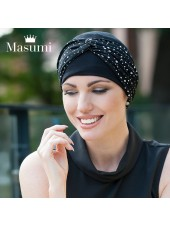 Masumi Turbante Ella Black & White Polka Dot