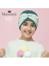 Masumi KIDS - Turbante Ella Green Forest Flower