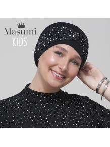 Masumi KIDS - Turbante Ella Black & White Polka Dot