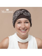 Masumi - Turbante Ella Brown & White Mosaica