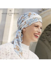 Pañuelo Beatrice Ikat Blues · Christine Headwear · Bambú