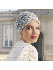 Turbante Lotus Ikat Blues · Christine Headwear · Bambú