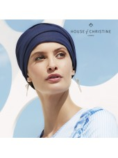 Zoya V · Stretchy Blue Denim · Christine Headwear