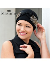 Masumi Turbante Carolina Black Laurel Crown