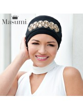 Masumi Turbante Carolina Black Golden Crown